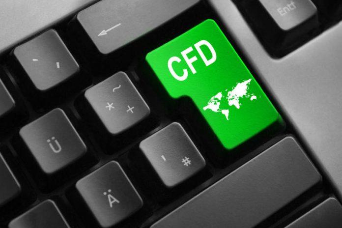 Przycisk na klawiaturze jako symbol kontraktów CFD.